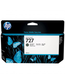 Cartuccia Originale HP C1Q12A 727 (Nero Opaco 300 ml)