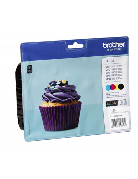 Multipack Cartucce Originali Brother LC-123VALBPDR (Nero, Ciano, Magenta, Giallo Conf. 4)