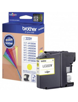 Cartuccia Originale Brother LC-223Y (Giallo 550 Pagine)
