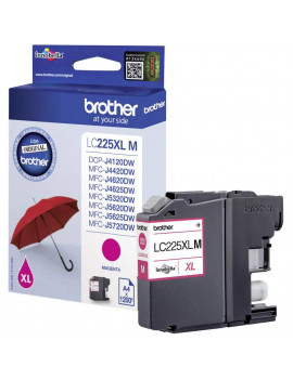 Cartuccia Originale Brother LC-225XLM (Magenta 1200 Pagine)
