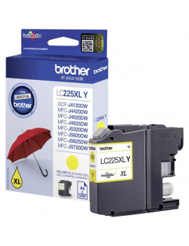 Cartuccia Originale Brother LC-225XLY (Giallo 1200 Pagine)