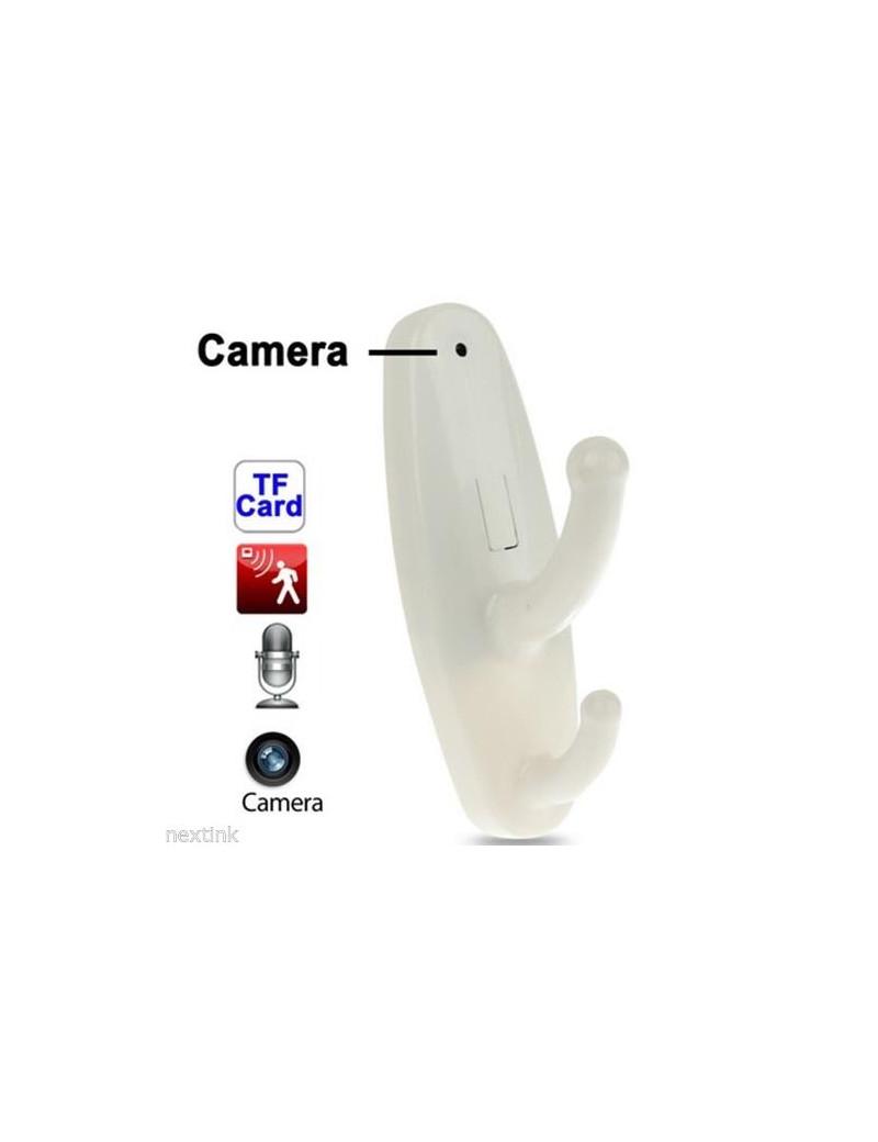 Appendiabiti Spy con Telecamera Nascosta (Bianco)