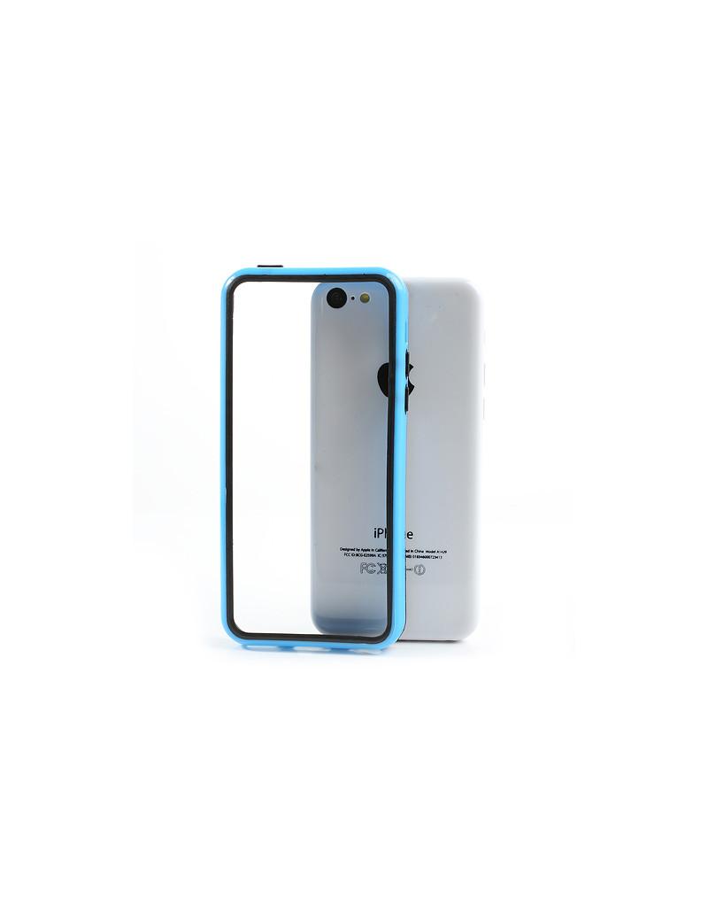 Bumper in Silicone per iPhone 5C (Azzurro)