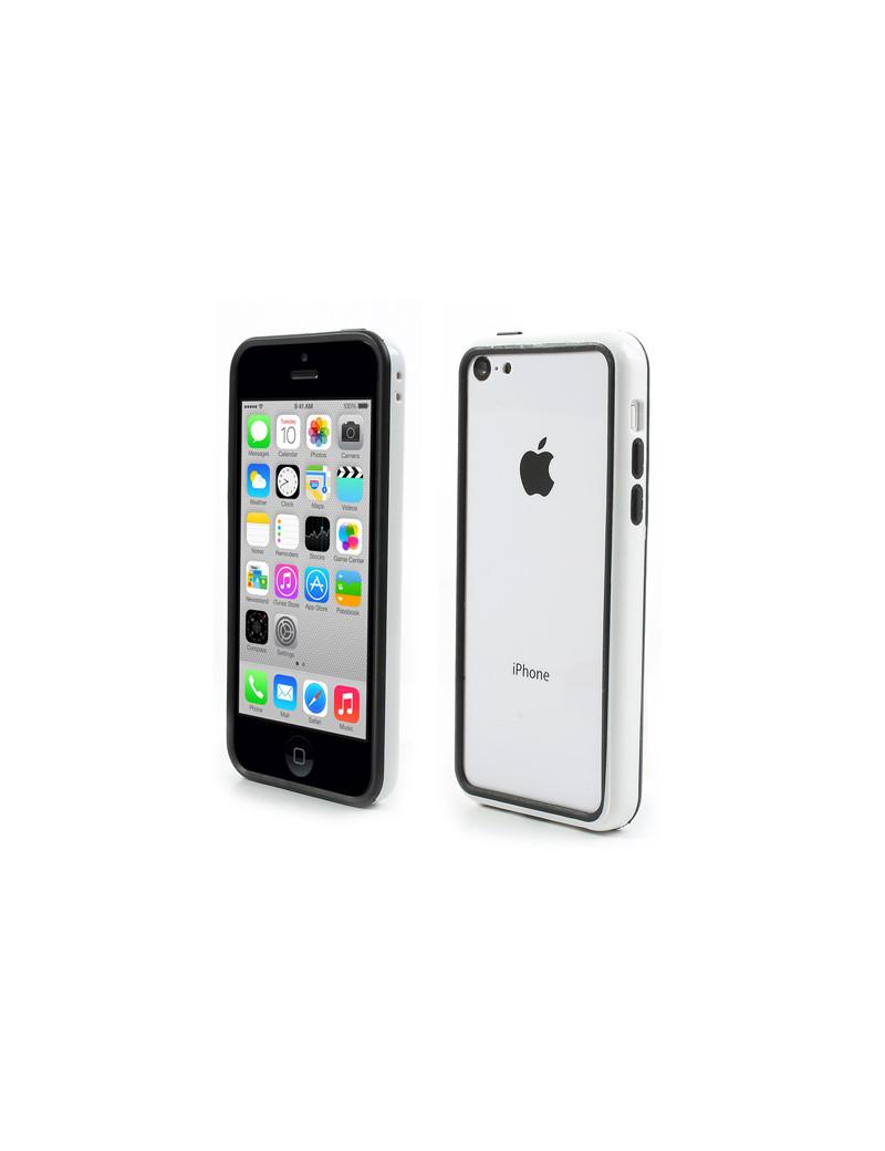 Bumper in Silicone per iPhone 5C (Bianco)