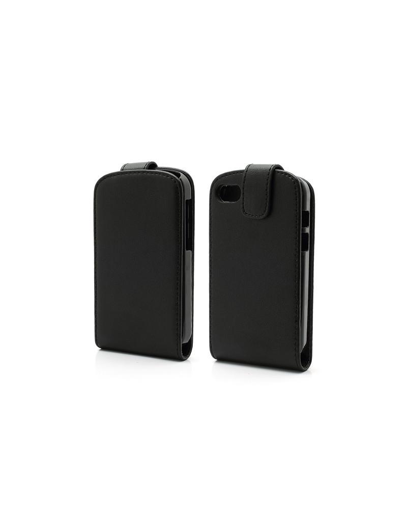 Cover Flip a Portafoglio Verticale in Ecopelle per BlackBerry Q10 (Nero)
