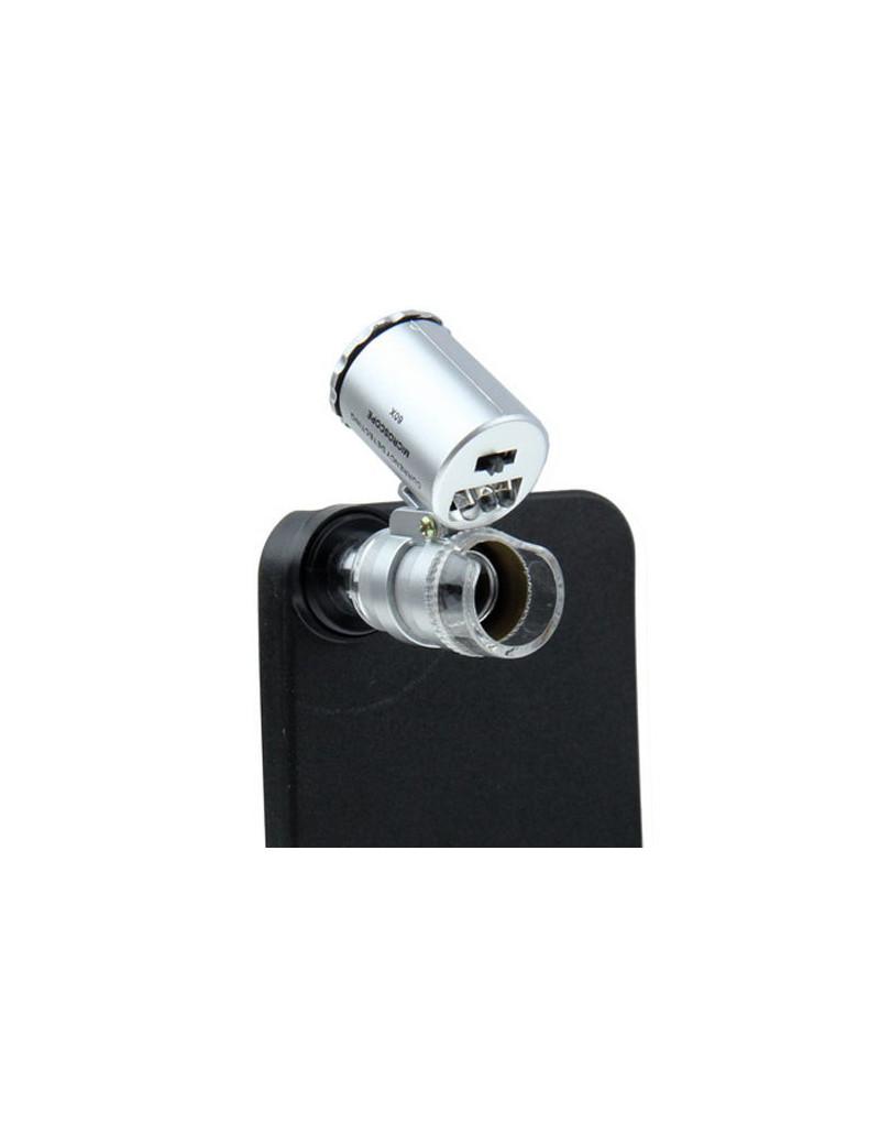 Microscopio portatile illuminazione led iphone s