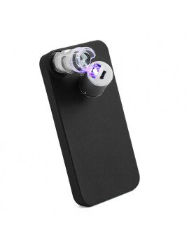 Microscopio 60x Portatile con Illuminazione LED per iPhone 4 4S