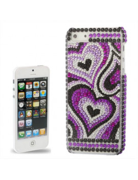 Cover Perle Cuore Glamour Donna per iPhone 5 5S