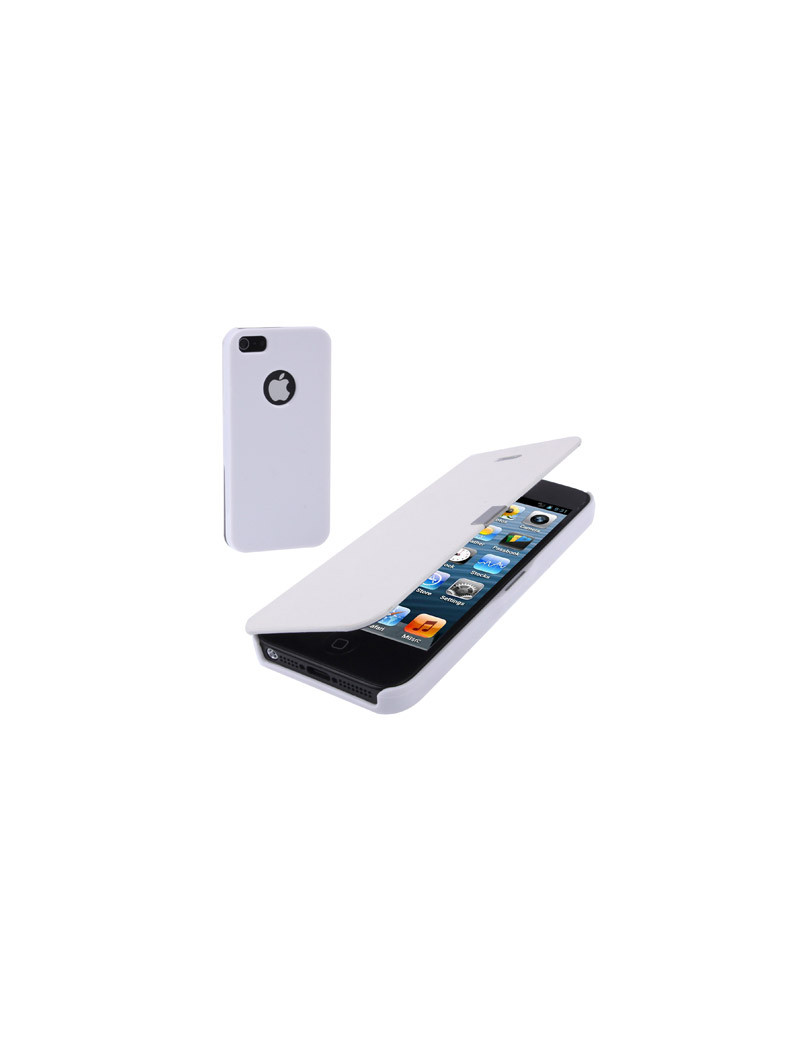 Cover FlipaPortafoglio Ecopelle iPhone 5 / 5S Bianco Offerta Offerte Sconto Sconti