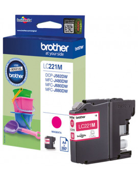 Cartuccia Originale Brother LC-221M (Magenta 260 pagine)