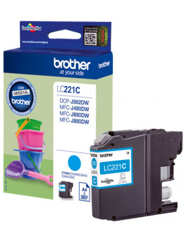 Cartuccia Originale Brother LC-221C (Ciano 260 pagine)