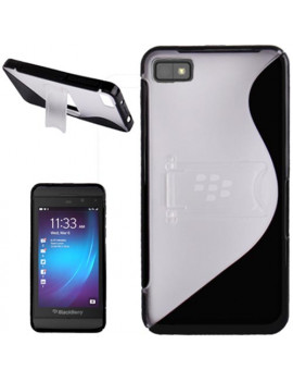 Cover in TPU Rigido BlackBerry Z10 (Nero/Bianco)