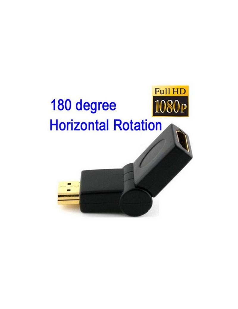 Adattatore HDMI 180° Maschio/Femmina 19 Pin (Placcato Oro)
