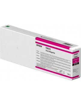 Cartuccia Originale Epson T804300 Ultrachrome HD HDX (Magenta 700 ml)