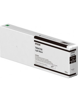 Cartuccia Originale Epson T804700 Ultrachrome HD HDX (Nero Chiaro 700 ml)