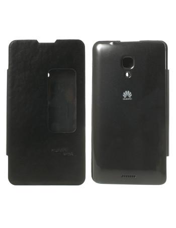 Cover a Portafoglio Slim S-View per Huawei Ascend Mate2 4G (Blu)