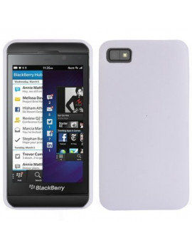 Cover in Silicone Morbido per BlackBerry Z10 (Bianco)
