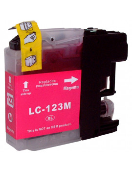 Cartuccia Compatibile Brother LC-123M (Magenta 600 pagine)