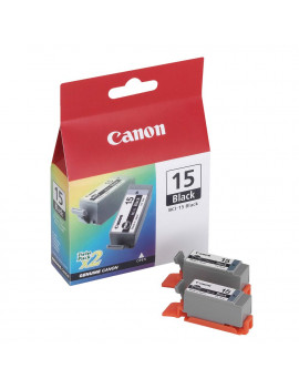 Cartuccia Originale Canon BCI-15BK Twin Pack (Nero)
