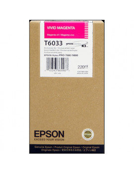 Cartuccia Originale Epson T603300 (Magenta 220 ml)