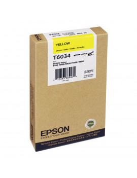 Cartuccia Originale Epson T603400 (Giallo 220 ml)