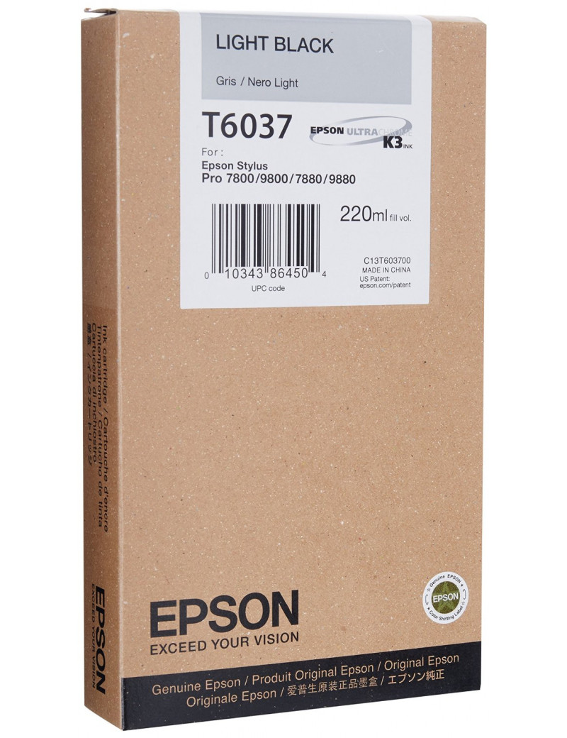 Cartuccia Originale Epson T603700 (Nero Chiaro 220 ml)