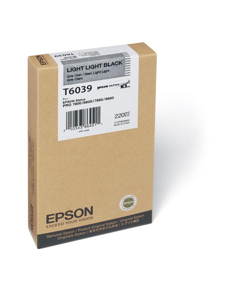 Cartuccia Originale Epson T603900 (Nero Chiaro Chiaro 220 ml)