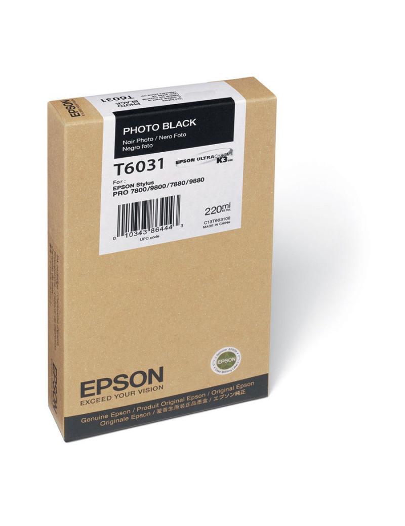 Cartuccia Originale Epson T603100 (Nero Foto 220 ml)