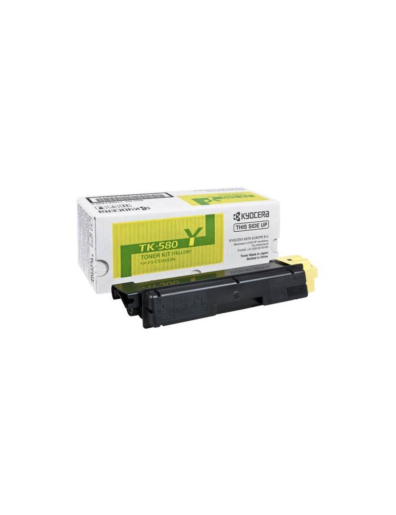 Toner Originale Kyocera TK-580Y 1T02KTANL0 (Giallo 2800 pagine)