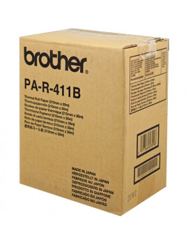 Nastro Originale Brother PAR411 PA-R-411B - 210 mm x 30 m (Nero Conf. 6)