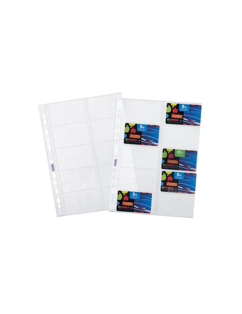 Buste a Foratura Universale Porta Cards Favorit - 22x30 cm - Trasparente Conf. 10
