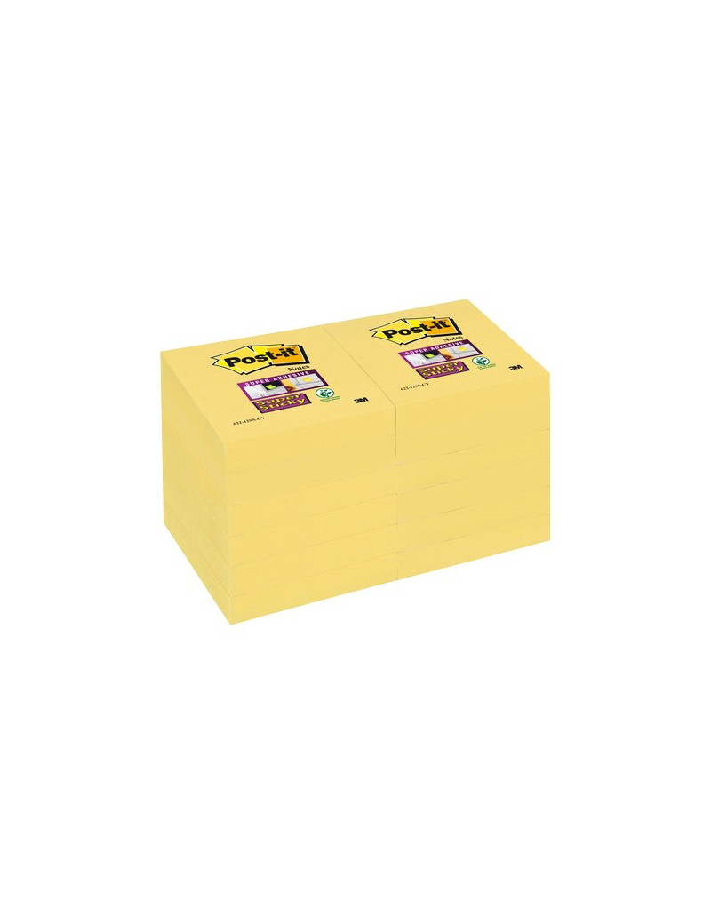 Post-it® Super Sticky Canary™ - 47,6x47,6 mm - Giallo Canary (Conf. 12)