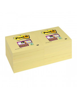 Post-it® Super Sticky Canary™ - 76x76 mm - Giallo Canary (Conf. 12)