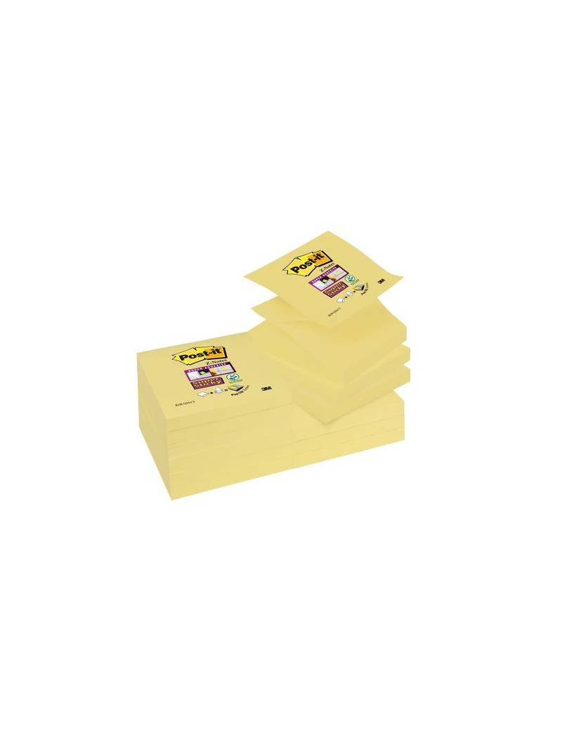 Ricariche Post-it® Z - Notes Super Sticky Canary™ - 76x76 mm - Giallo Canary (Conf. 12)