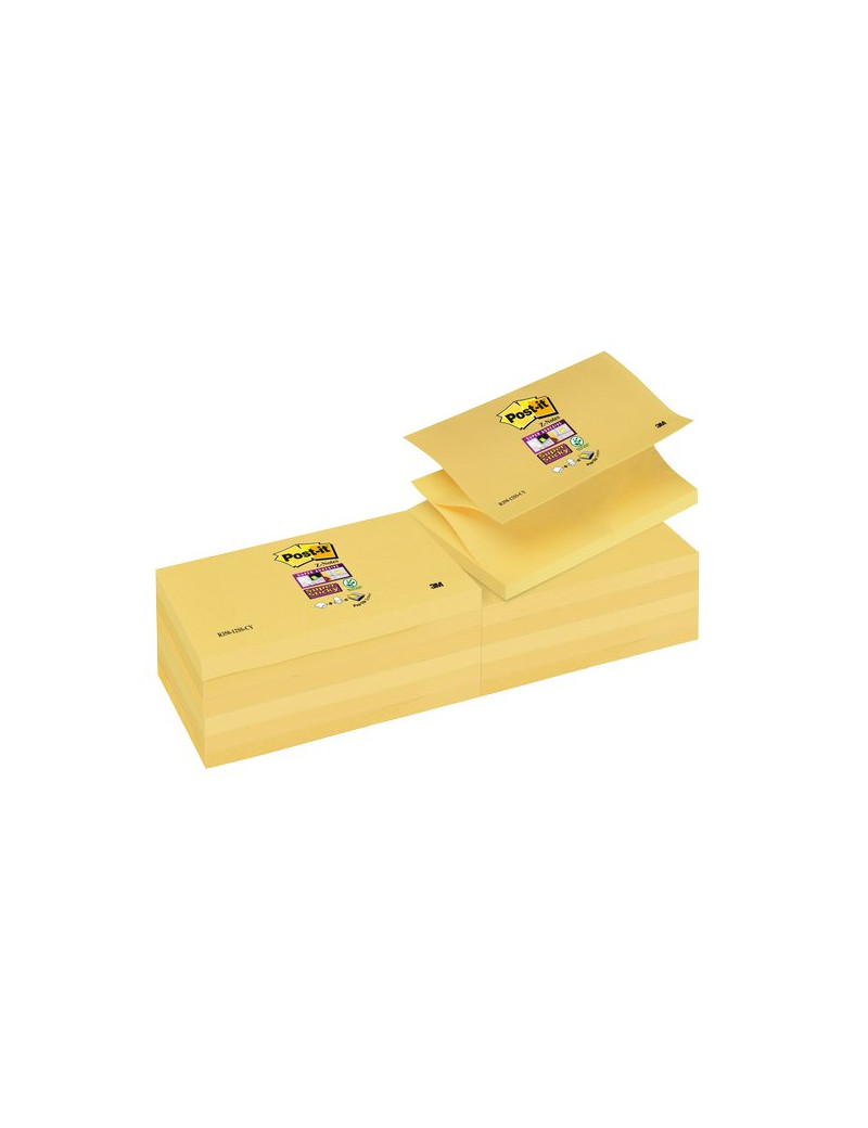 Ricariche Post-it® Z - Notes Super Sticky Canary™ - 76x127 mm - Giallo Canary (Conf. 12)