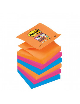 Ricariche Post-it Super Sticky Z- Notes Bangkok R330-6SS-EG 3M - 76x76 mm - 57349 (Assortiti Conf. 6)