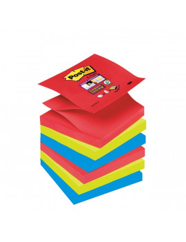 Ricariche Post-it® Z - Notes Super Sticky Post-it - 76x76 mm - Assortiti (Conf. 6)