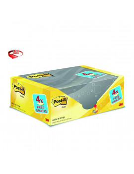 Foglietti Post-it® Notes Giallo Canary™ Value Pack - 76x127 mm (Conf. 16+4)