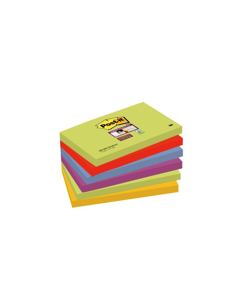 Foglietti Post-it® Super Sticky Marrakesh Post-it - 76x127 mm (Conf. 6)