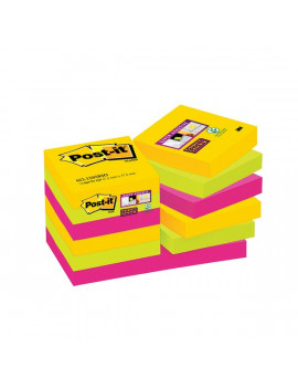 Foglietti Post-it® Super Sticky Rio De Janeiro Post-it - 47,6x47,6 mm (Conf. 12)
