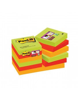 Foglietti Post-it® Super Sticky Marrakesh Post-it - 47,6x47,6 mm (Conf. 12)