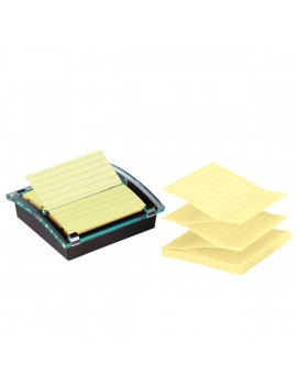 Dispenser per Post-it Super Sticky Millenium 3M + Blocchetto - DS440-SSCYL-EU - 4663 (Giallo Canary)