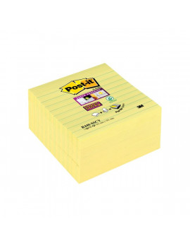 Foglietti per Dispenser Post-it® Super Sticky Z - Notes xL a Righe - Giallo Canary (Conf. 5)