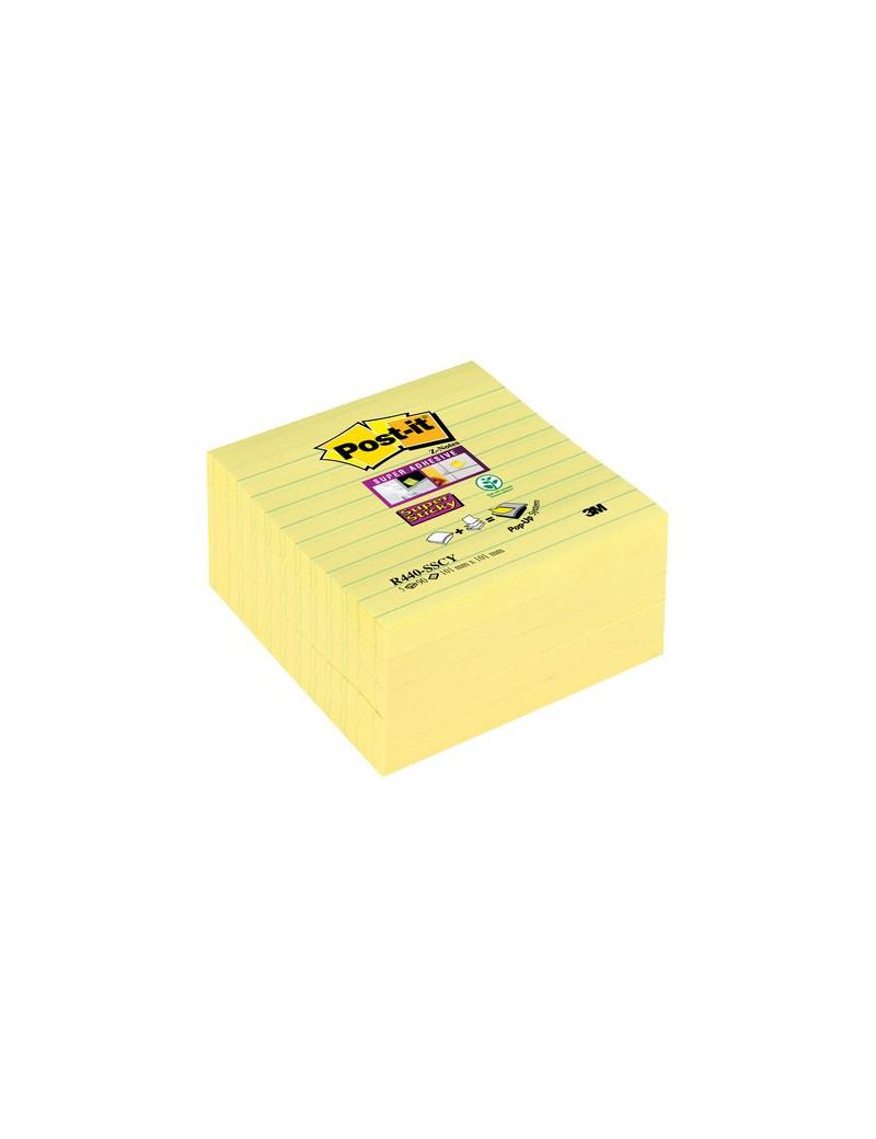 Foglietti per Dispenser Post-it® Super Sticky Z - Notes xL a Righe - Giallo Canary (Conf. 5)