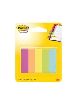 Segnapagina Post-it® Notes Markers in Carta Post-it - 12,7x44,4 mm (Conf. 5)