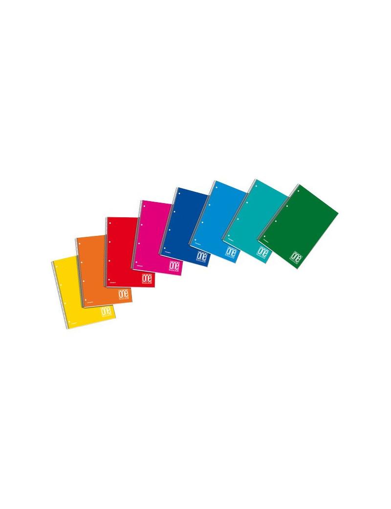 Blocco Spiralato A4 One Color 140FF Blasetti - A4 - 5 mm (Conf. 3)