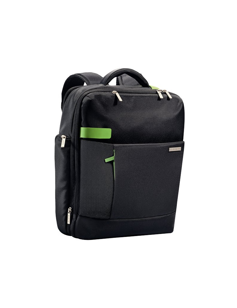 Zaino Smart Traveller Leitz Complete per PC Leitz - 15x40x31 cm - Nero/Verde