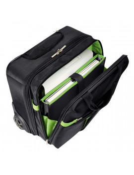 Trolley Carry-On Smart Traveller Leitz Complete Leitz - 20x37x42 cm - Nero/Verde