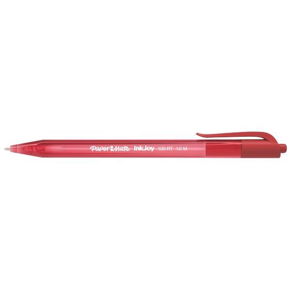 Penna-a-Sfera-a-Scatto-Inkjoy-100-Paper-Mate-1-mm-S0957050-Rosso-Conf-20