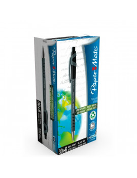 Penna a Sfera a Scatto FlexGrip Ultra Recycled Papermate - Value Pack - Nero (Conf. 36